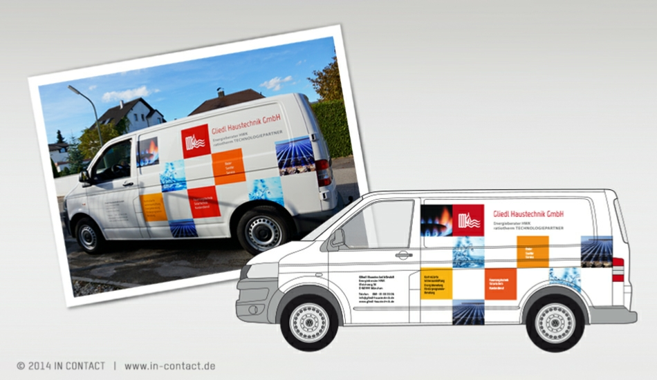 Gliedl Haustechnik - Neuentwicklung - Fahrzeugbeschriftung