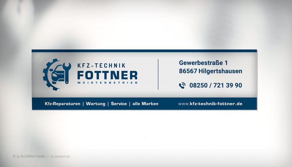 KFZ-TECHNIK FOTTNER Umsetzung Fassadenbeschriftung
