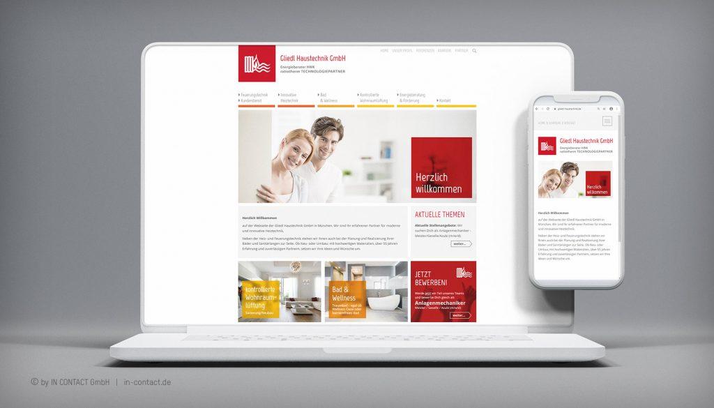 Gliedl Haustechnik - Webseite