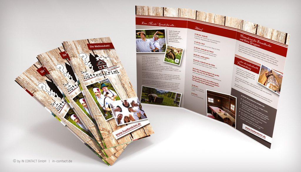 original Hüttenkrimi - Folder zur Weltpremiere (2010)