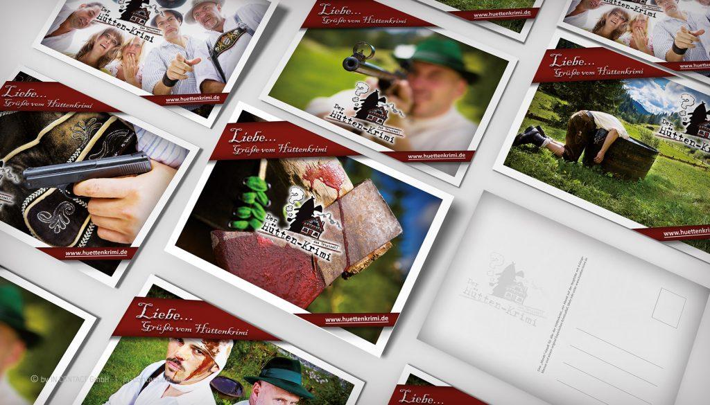 Original Hüttenkrimi - Postkarten zur Weltpremiere 2010