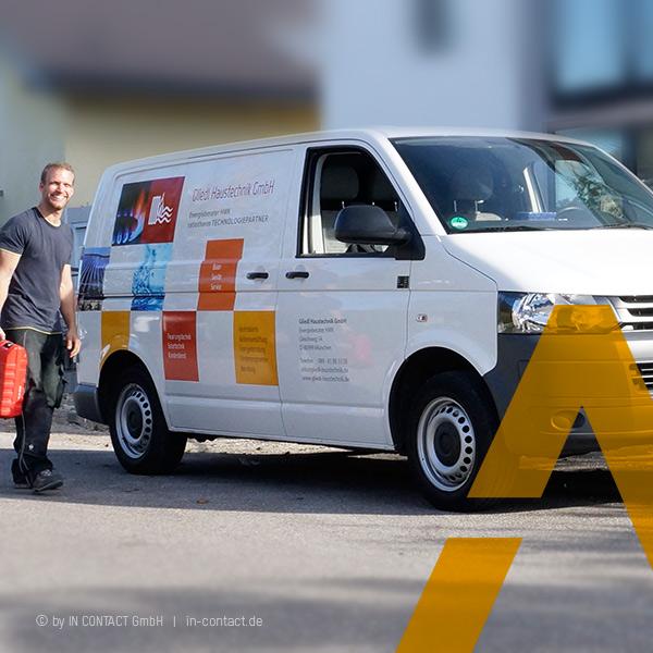 Gliedl Haustechnik - Fahrzeugbeschriftung