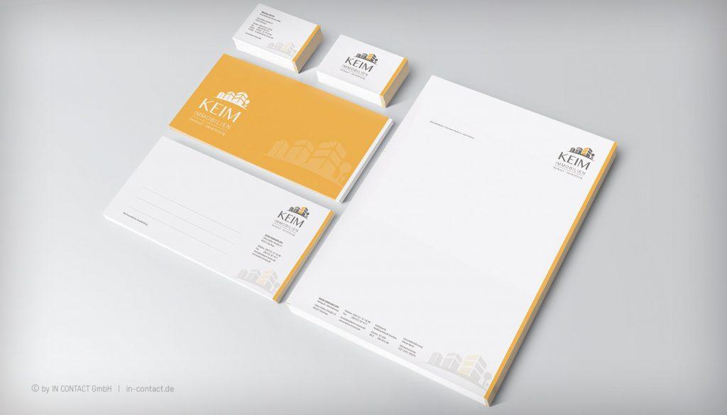 KEIM IMMOBILIEN - Brief- und Geschäftsausstattung
