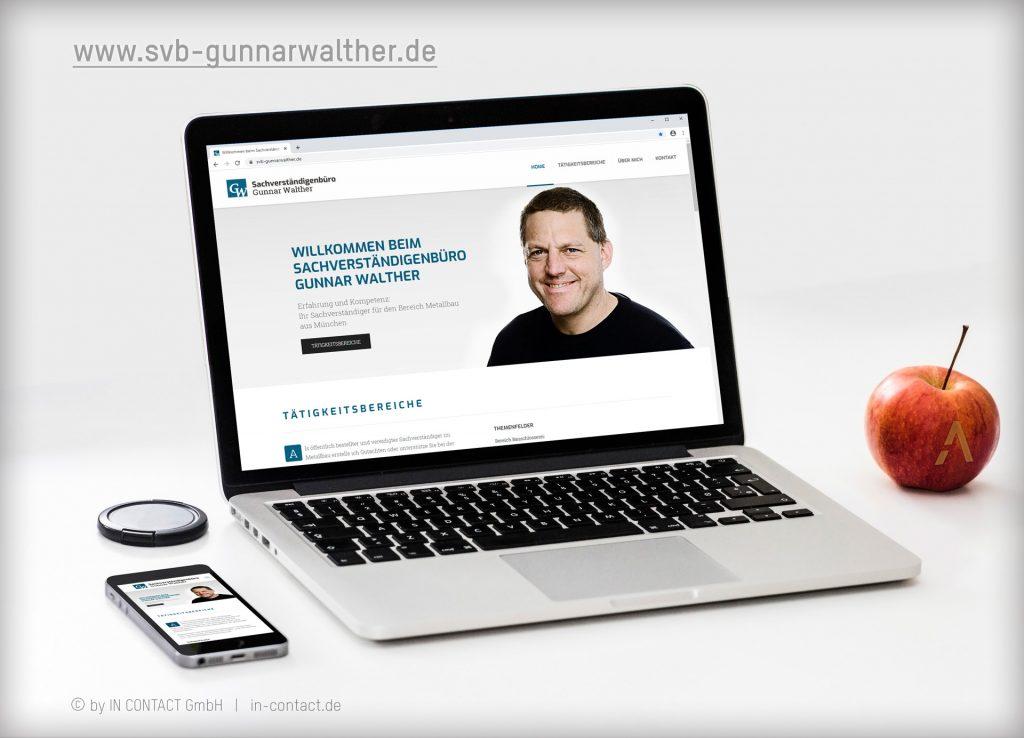 Microsite für das Gunnar Walther Sachverständigenbüro