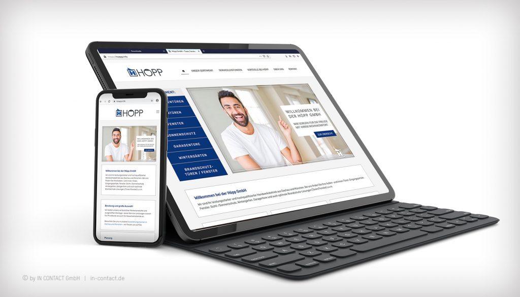 Höpp GmbH - neue Webseite